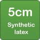 5cm synthetic latex