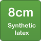 8cm synthetic latex