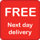 Free next day delivery